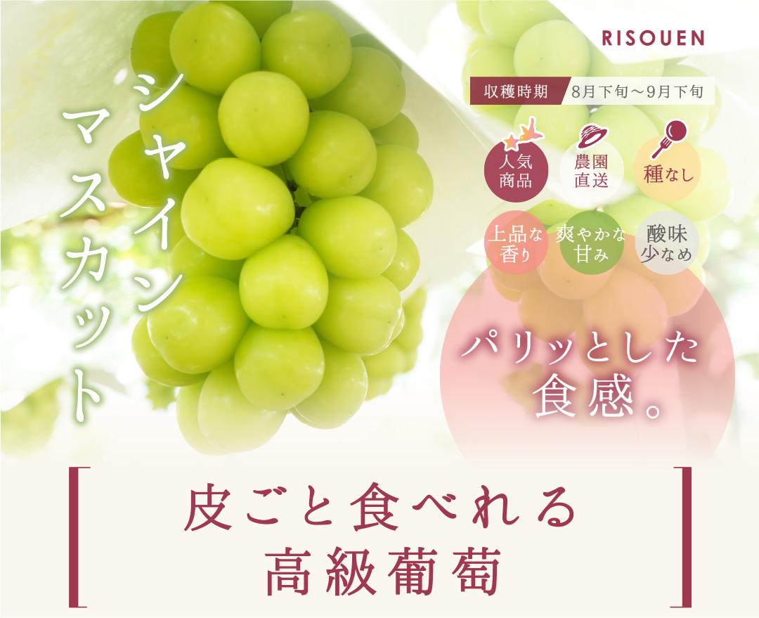 山梨の高級葡萄「シャインマスカット」